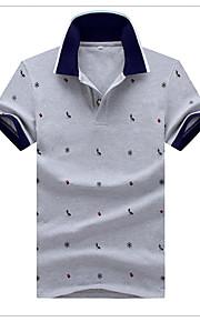 Ανδρικά T-shirt Πουά Λευκό XXL