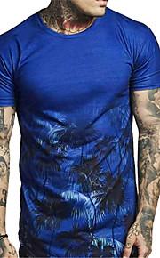Hombre Estampado Camiseta Geométrico / Cachemir / Gráfico Azul Piscina XL