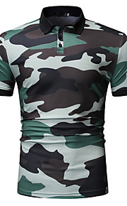 Муж. Рубашка Однотонный Синий XL