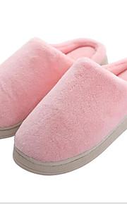 여성용 구두 폴리에스테르 봄 슬리퍼 플립 플롭 플랫 신발 앞 막힘 홈 용 밝은 그레이 / 핑크 / 라이트 그린