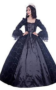 3126e09b7c91 Πριγκίπισσα Μαρία Αντωνιέτα Floral Style Rococo Victorian Αναγέννησης  Στολές Γυναικεία Κοστούμι πάρτι Χορός μεταμφιεσμένων Μαύρο Πεπαλαιωμένο