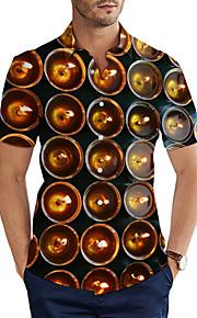 Skjorte Herre - 3D Grunnleggende Svart XXL
