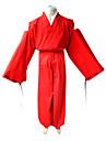 Inspirerad av InuYasha Inu Yasha Animé Cosplay-kostymer cosplay Suits Kimono Enfärgad Långärmad Topp Hakama Byxor Kimono Kappa Till Herr