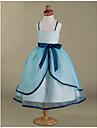 Rochie de mireasa ceai lungime rochie fata rochie - organza satin fara curea spaghete curea cu panglica de lan ting bride®