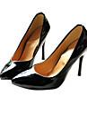 konstläder patent övre stilettklack pumpar bröllop / fest shoes.more färger