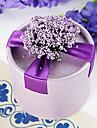 Cilindru Hârtie cărți de masă Favor Holder Cu Flori Panglici Cutii de Savoare