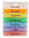 färgglada 7-dagar designen pill box med rack