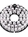 48 infrarouge dirige illuminateur plaque de bord pour camera de securite CCTV 3.6mm lentille