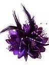 Křišťál / Peří / Látka Tiaras / Fascinátory / Květiny s 1 Svatební / Zvláštní příležitosti / Večírek Přílba