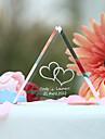 Vârfuri de Tort Personalizat Inimi / Cuplu Clasic Cristal Petrecerea Bridal Shower / Aniversare / Nuntă Temă Grădină Cutie de Cadouri