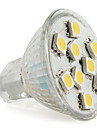 MR11 5050 SMD 9-LED alb bec lumina calda 90-120lm (12V, 1,5-2W)