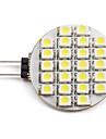 2W 6000 lm G4 LED-spotlights 24 lysdioder SMD 3528 Naturlig vit DC 12 V