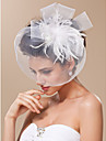 Blusher Veils Headwear Birdcage Veils with Feather Floral 1pc Special Occasion Headpiece