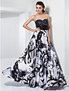 A-Line Princess Strapless Sweetheart Floor Length Stretch Satin Prom Dress with Beading by TS Couture®