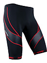 SANTIC Herr Vadderade cykelbyxor - Svart Cykel Shorts Vadderade shorts, Snabb tork, Andningsfunktion, Reflexremsa, 3D Tablett
