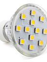 3w gu10 condus lumina reflectoarelor mr16 12 smd 5050 80-100lm cald alb 2800k ac 220-240v