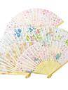 """Bumbac Ventilatoare și umbrele de soare-# Piece / Set Ventilatoare de Mână Temă Florală Alb 8 ¼"""" h x 14 ½"""" w(21cm înalt ×37cm lat)1""""x8"""