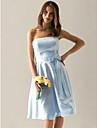Ballkleid Traegerlos Knie-Laenge Satin Kleid mit Schleife(n) / Schaerpe / Band durch TS Couture®