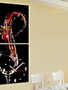 stil modern temă vin ceas de perete în set panza de 2