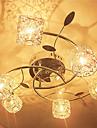 6-Light Montaj Flush Lumină Spot - Cristal, 110-120V / 220-240V Bec Inclus / G4 / 20-30㎡
