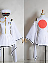 Ispirato da Vocaloid Hatsune Miku Video gioco Costumi Cosplay Abiti Cosplay / Kimono Manica lunga Cappotto / Gonna / Guanti Costumi Halloween