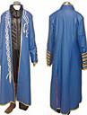 Inspirat de Devil May Cry Vergil Video Joc Costume Cosplay Costume Cosplay Peteci Albastru Mânecă Lungă Geacă / Vestă / Pantaloni