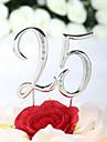 Vârfuri de Tort Temă Clasică Crom Aniversare Zi de Naștere cu Piatră Semiprețioasă Sac PVC