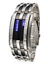 Bărbați Ceas de Mână Unic Creative ceas Piloane de Menținut Carnea Calendar LED Oțel inoxidabil Bandă Argint