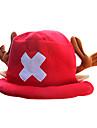 Pălărie/Șapcă Inspirat de One Piece Tony Tony Chopper Anime Accesorii Cosplay Șapcă / Pălărie Roșu Lână polară Bărbătesc