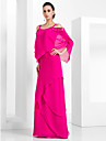 Sheath / Column Spaghetti Strap Floor Length Chiffon Formal Evening / Black Tie Gala Dress with Beading / Tier by TS Couture®