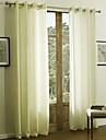 Stångficka Hyls-topp Hällor topp Dubbel veckad Två paneler Fönster Behandling Moderna Enfärgad 55% Bomull Chenille/45% Konstsilke