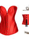 Korsett Klassisk/Traditionell Lolita Klassisk Lolita Vit Svart Purpur Röd lolita tillbehör Satin