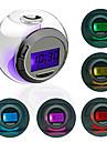 Klotformad Färggrann Väckarklocka med LED (3xAAA)