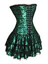 Corset Lolita Stil Gotic Negru Rosu Verde Lolita Accesorii Imprimeu Poliester