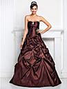A-line rochie de mireasa strapless dulce podea lungime taffeta quinceanera rochie cu cristal de ts couture®