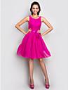 A-line scoop gât lungime genunchi stretch satin cocktail petrecere homecoming vacanță rochie cu cristal de ts couture®