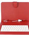 9 Inch Mesh Stripe Mönster PU läderfodral med USB-tangentbord och stativ