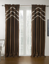 Rod Pocket Grommet Top Tab Top Double Pleat Two Panels Curtain Modern Solid 100% Polyester Polyester Material Blackout Curtains Drapes
