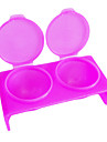 Dubbel-håls Rose plast akryl Nails konst Soak Bowl verktyg