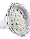 2W 150-200lm GU5.3(MR16) LED-spotlights MR16 15 LED-pärlor SMD 2835 Varmvit 12V