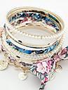 Moda aliaj multistrat cu Pearl & brățară bowknot femei (multe culori)