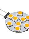 daiwl g4 1.5W 9x5050smd 70-100lm 3000K varmvit ljus ledde bollen glödlampa (12v)