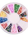 12 Färger Fimo Slice Plum Blossom Nail Art Dekoration