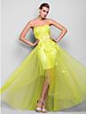O linie printesa fara bretele lungime de satin lungime satin rochie de bal rochie cu aplicatii draperie impartita fata de ts couture®