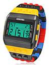בגדי ריקוד גברים שעון יד שעון דיגיטלי דיגיטלי גומי צבעוני Alarm לוח שנה כרונוגרף דיגיטלי קסם - שחור /  צהוב שנתיים חיי סוללה / LCD / Maxell CR2025
