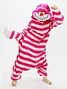 Pyjamas Kigurumi Chesire Cat Combinaison de Pyjamas Costume polaire Rouge Cosplay Pour Adulte Pyjamas Animale Dessin anime Halloween Fete
