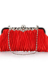 Women\'s Bags Polyester Evening Bag Crystal/ Rhinestone for Wedding Event/Party Formal Office & Career All Seasons Fuchsia Brown Red Pink