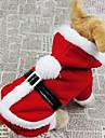 Câine Costume Haine Hanorace cu Glugă Îmbrăcăminte Câini Cosplay Crăciun Solid Rosu