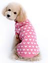Katt Hund Tröjor Hundkläder Håller värmen Hjärta Rosa Kostym För husdjur