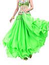 Belly Dance Skirt Women\'s Training Chiffon Draping Tier Natural Skirt
